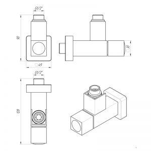 Кран угловой Kvatro lx855 Схема