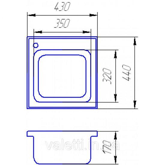 Схема Гранитная мойка Valetti №1 STD