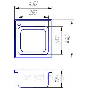 Схема Гранитная мойка Valetti №1