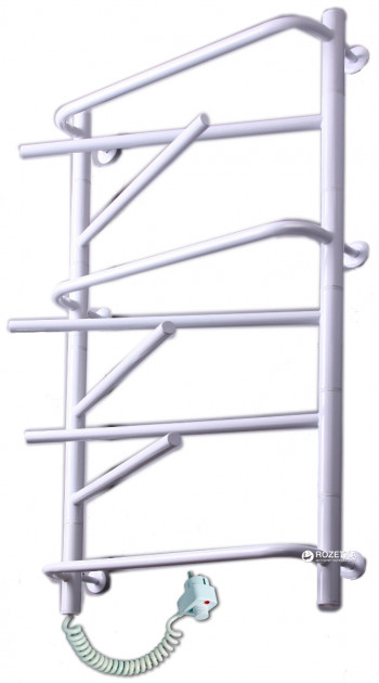 Электрический полотенцесушитель Elna Элна-9 975х530 белый л/п