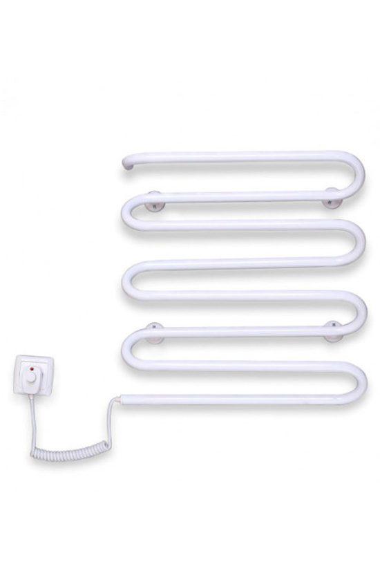 Электрический полотенцесушитель Elna Волна 8 500х420 белый л/п