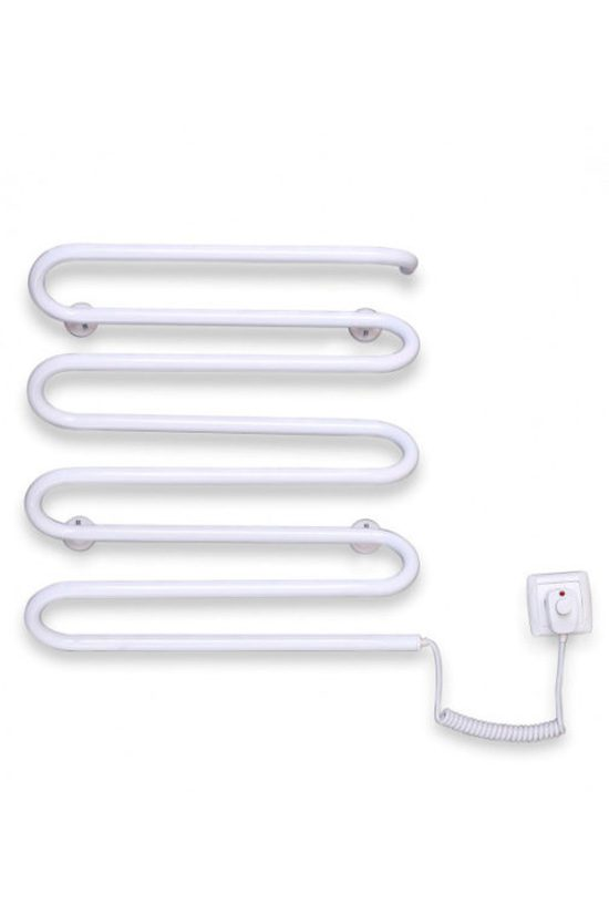 Электрический полотенцесушитель Elna Волна 8 500х420 белый п/п