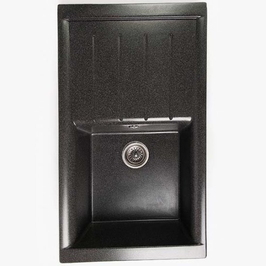 Гранитная мойка Valetti №19 860х500 черная