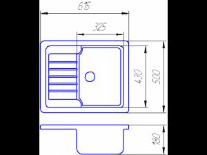 Схема Гранитная мойка Valetti №12