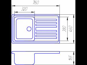 Схема Гранитная мойка Valetti №17 760х460