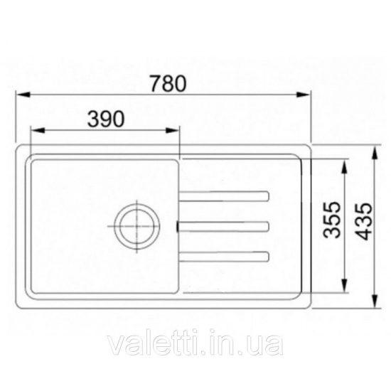 Схема Гранитная мойка Valetti №36 780х435 S-V-LUX