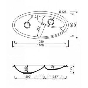 Схема Гранитная мойка Valetti №39 1100x540