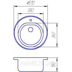 Схема Гранитная мойка Valetti №5 510