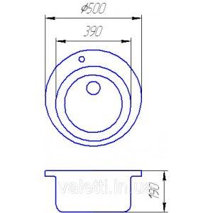 Схема Гранитная мойка Valetti №7 500