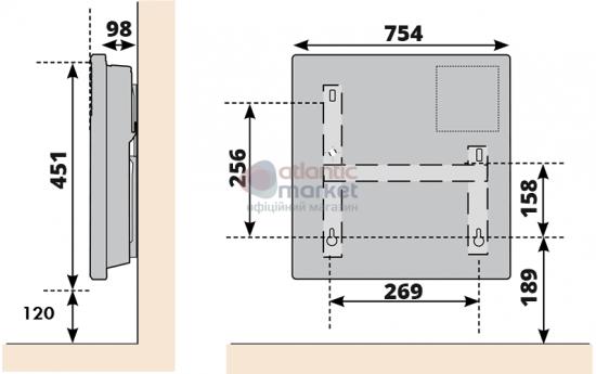 Схема Конвектор электрический Atlantic F17 ESSENTIAL CMG BL-meca 2000W
