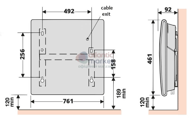 Схема электрического конвектора Atlantic F119 CMG TLC M2 2000W