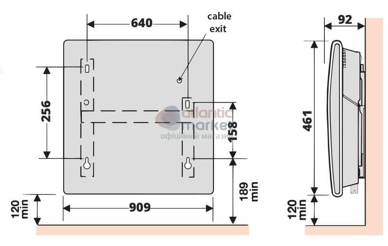 Схема электрического конвектора Atlantic F119 CMG TLC M2 2500W