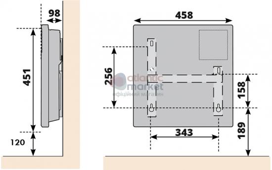 Схема электрического конвектора Atlantic F17 ESSENTIAL CMG BL-meca 1000W