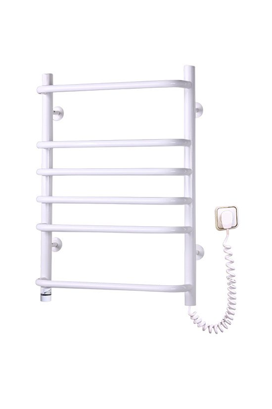 Электрический полотенцесушитель Elna Стандарт-6 675х480 ТР белый