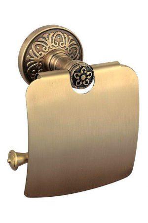 Держатель для туалетной бумаги Милано бронза закрытый 9626