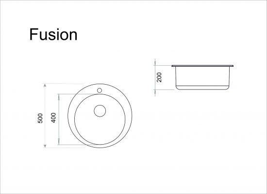 Схема Гранитная мойка Idis Fusion №1 490
