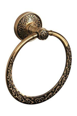Кольцо для полотенец Милано бронза 9603