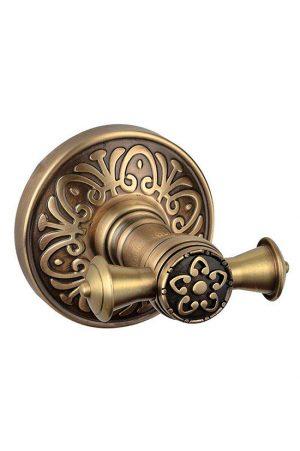 Крючок Милано бронза двойной 9625