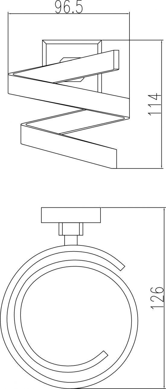 Схема Держатель для фена Леонардо, хром 9955