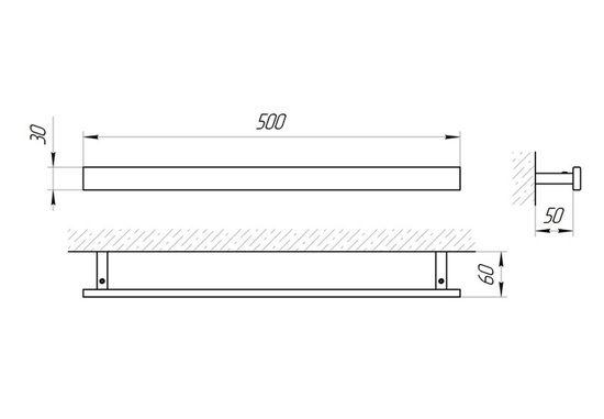 Схема Держатель для полотенца Laris Кватро