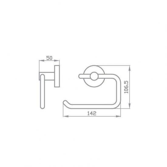 Схема Держатель для туалетной бумаги Глория открытый 8116
