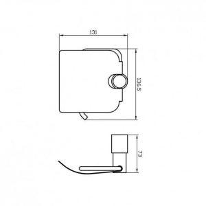 Схема Держатель для туалетной бумаги Маттео 8816