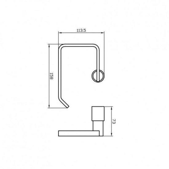 Схема Держатель для туалетной бумаги Маттео 8826