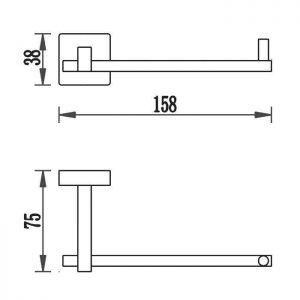 Схема Держатель для туалетной бумаги Терра 4786w