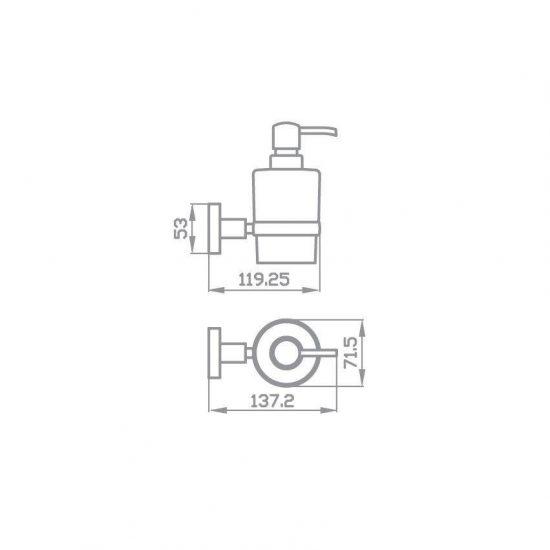 Схема Дозатор для жидкого мыла Глория 8133