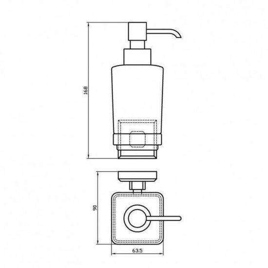 Схема Дозатор для жидкого мыла Леонардо 9933