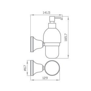 Схема Дозатор для жидкого мыла Виктория 7432