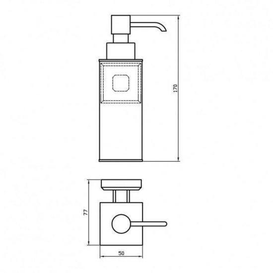 Схема Дозатор для жидкого мыла (латунь) Леонардо 9932