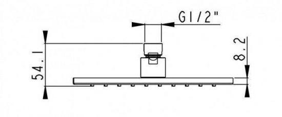 Схема Душевой гарнитур AQUARODOS AVALON S набор для душа 1 200x200