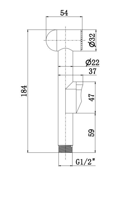 Схема Гигиенический душ Umbra АкваРодос (BJ-025)