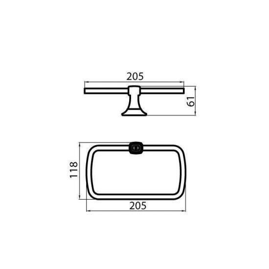Схема Кольцо для полотенец Бостон 1202