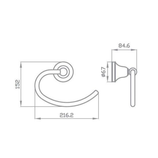 Схема Кольцо для полотенец Виктория 7413