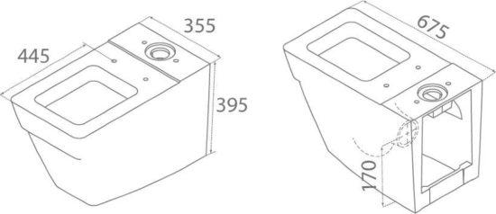 Схема Компакт Mona 008000 с крышкой Slim Soft-Close 9SC1301000 - Geberit