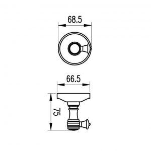 Схема Крючок Милано бронза 9615