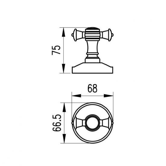 Схема Крючок Милано бронза двойной 9625