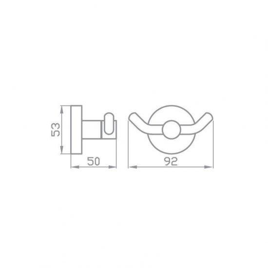 Схема Крючок двойной Глория 8125