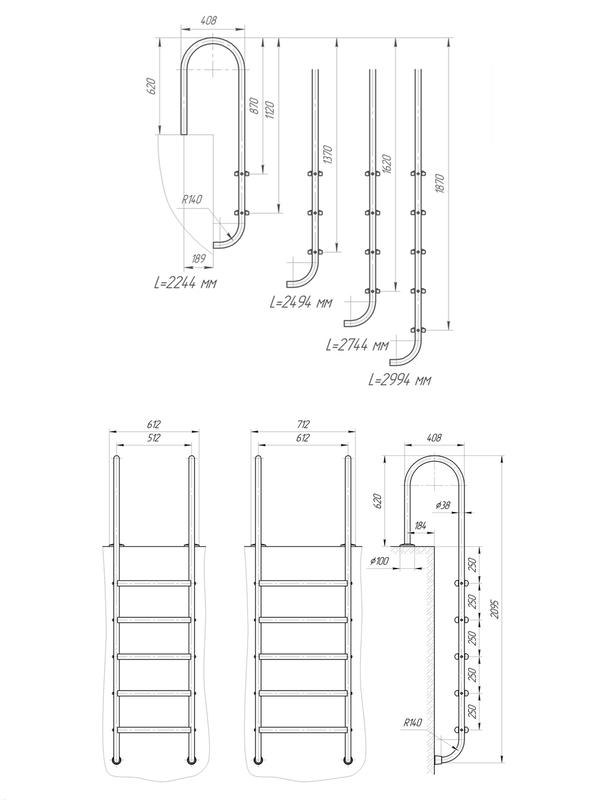 Схема Лестница в бассейн Laris Chamboard