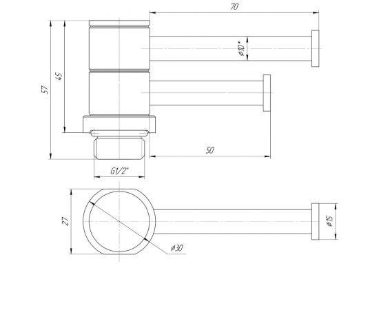 Схема Полка поворотная Mario L70 50