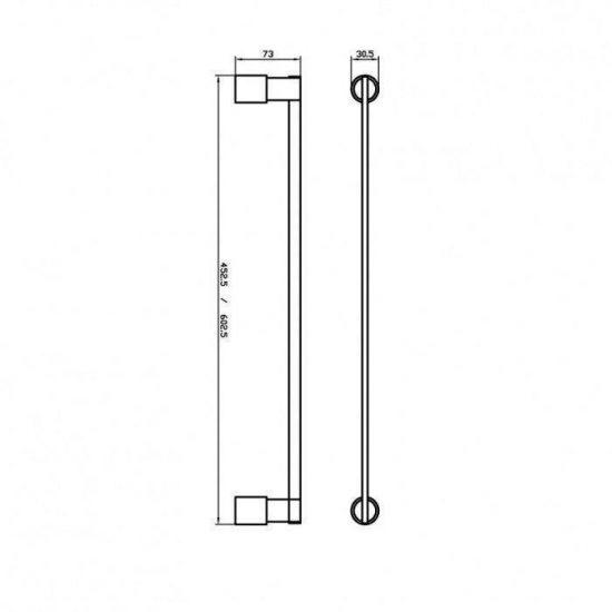 Схема Полотенцедержатель Маттео 8812