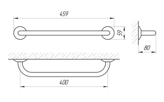 Схема Ручка настенная Laris Стандарт 400