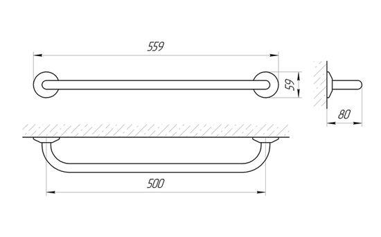 Схема Ручка настенная Laris Стандарт 500