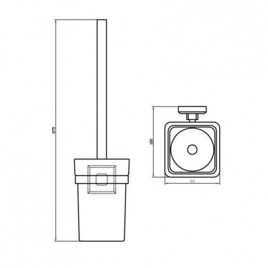 Схема Щетка для унитаза Леонардо 9929а