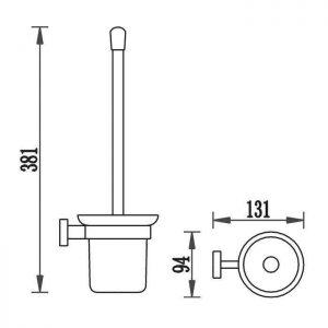 Схема Щетка для унитаза Терра 4788