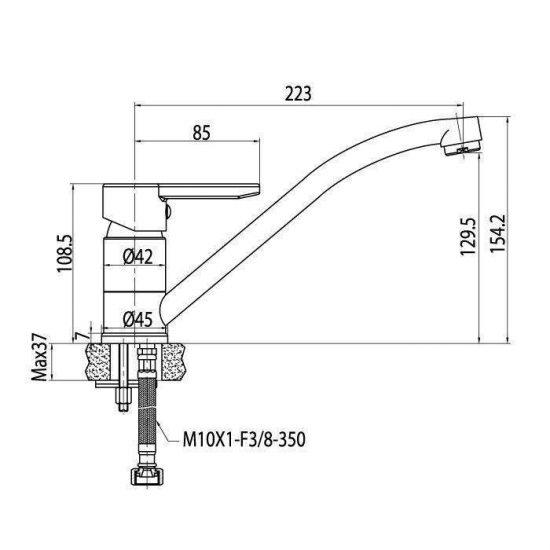 Схема Смеситель для кухни Aqua 90775