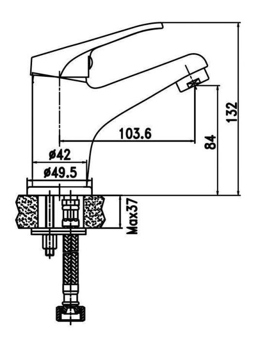 Схема Смеситель для раковины Decor 80223