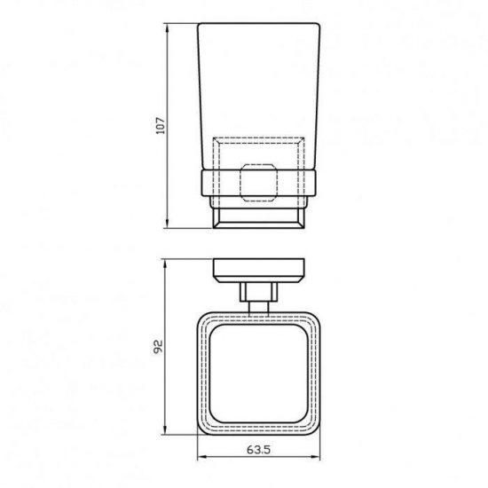 Схема Стакан для зубных щеток Леонардо 9921